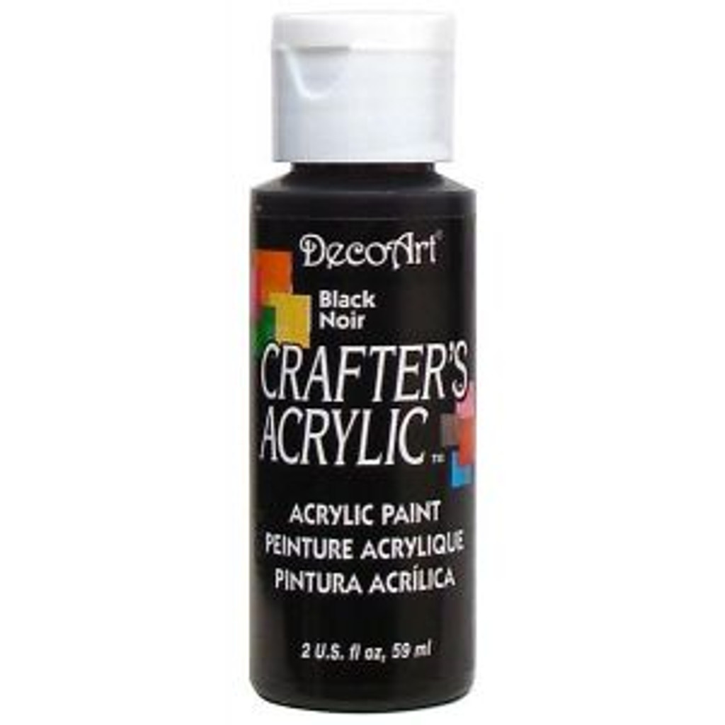 DecoArt Crafters Acrylic Paint - Black - 2oz