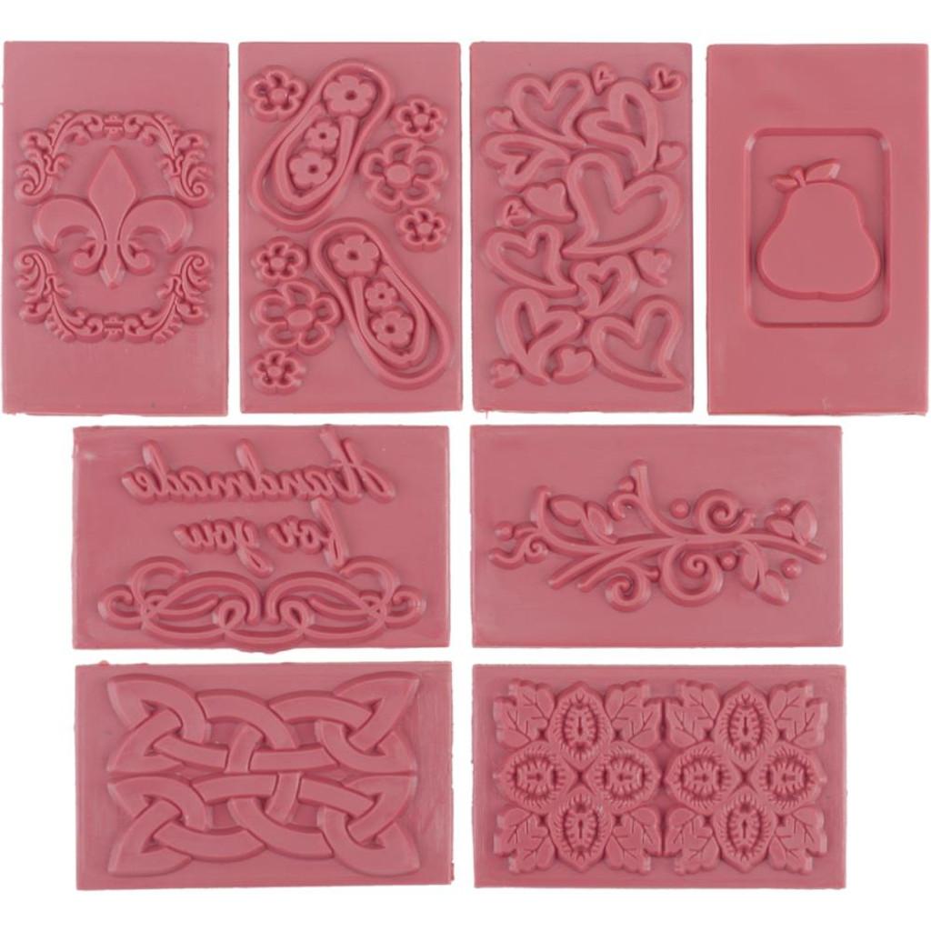 Soap Embossing Stamp Assortment 8/Pkg Rectangles