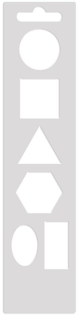 Mini Art Screen Stencil - Shapes