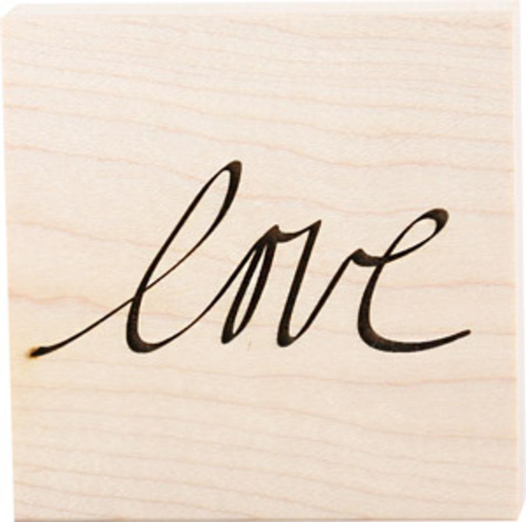 Teresa Collins Wood Mount Stamps - Love