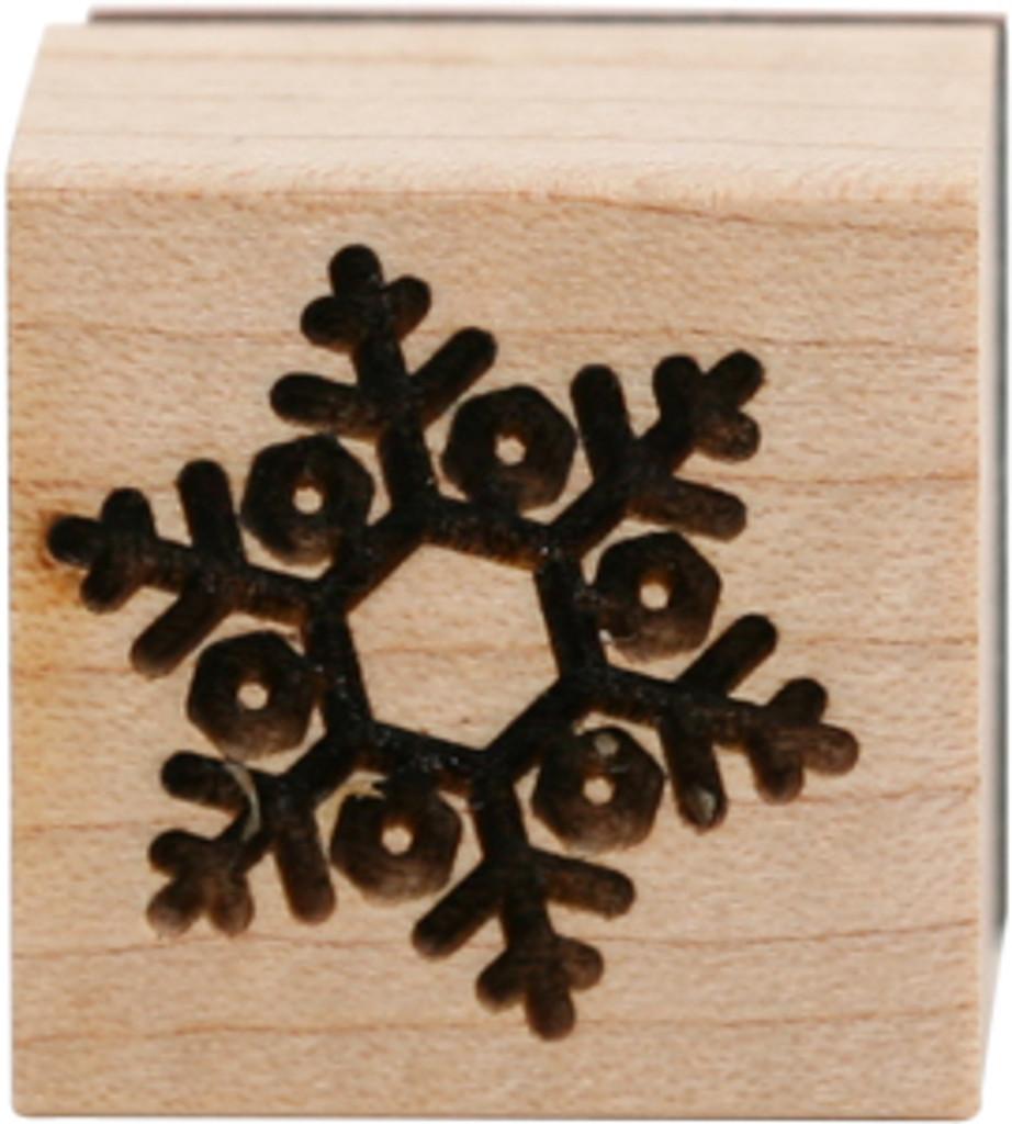 Wood Mount Stamps - Mini Snowflake