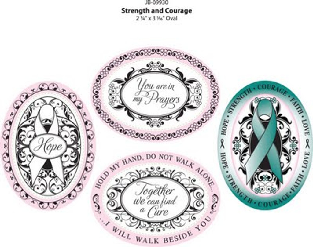 JustRite Rubber Stamps Strength and Courage Set