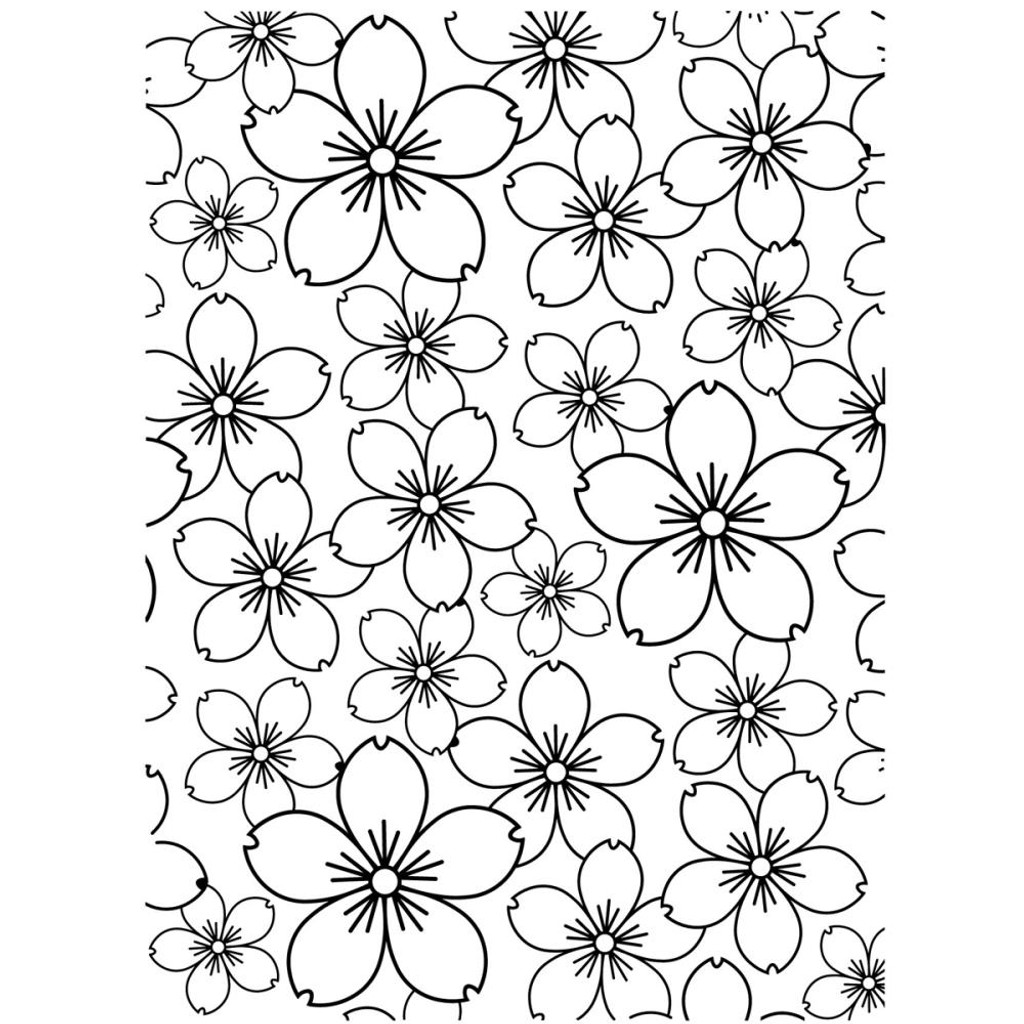 "Cherry Blossom - Background Embossing Folder 4.25""X5.75"""