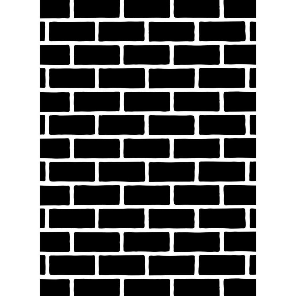 "Brick Pattern - Background Embossing Folder 4.25""X5.75"""