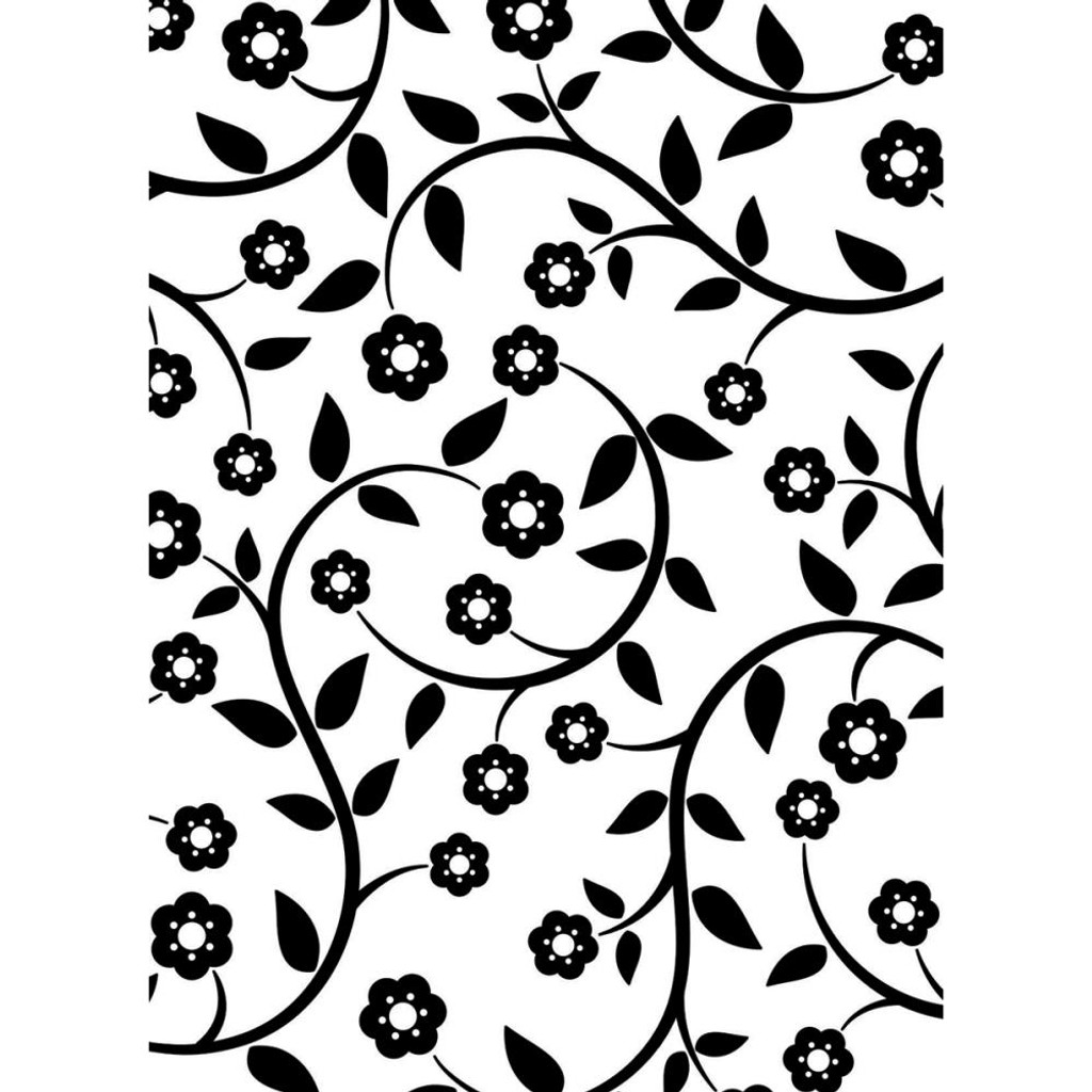 "Background Embossing Folder 4.25""X5.75"" - Flowers & Vine"