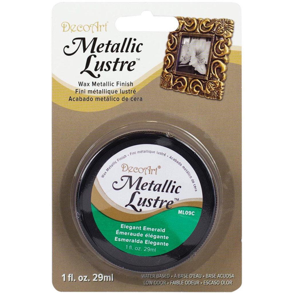 Metallic Lustre Wax Finish - Elegant Emerald