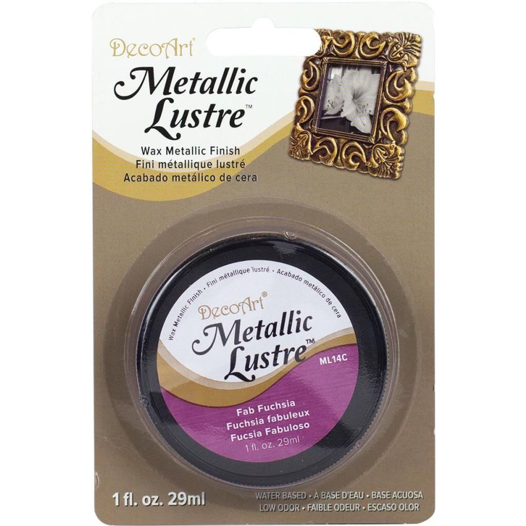 Metallic Lustre Wax Finish - Fab Fuchsia