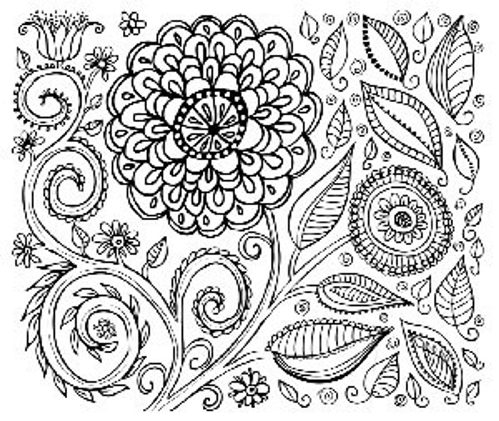 Zany Zinnia Silkscreen Stencil