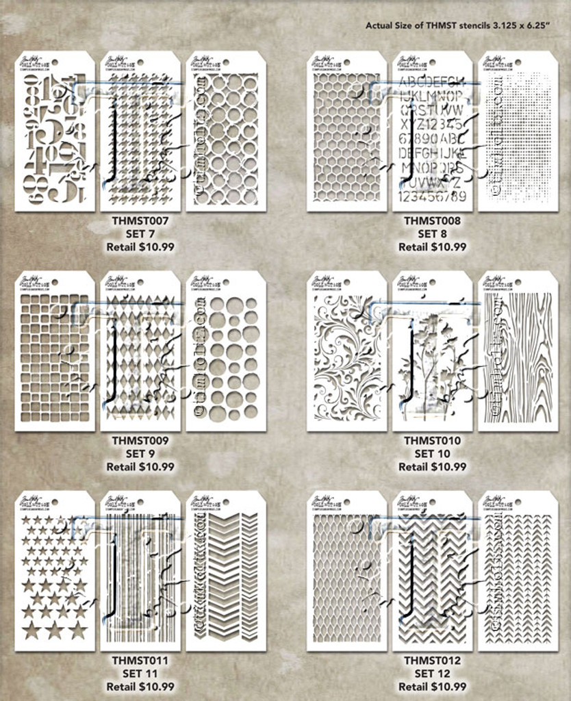 Tim Holtz Mini Layered Stencil Sets 3/pkg