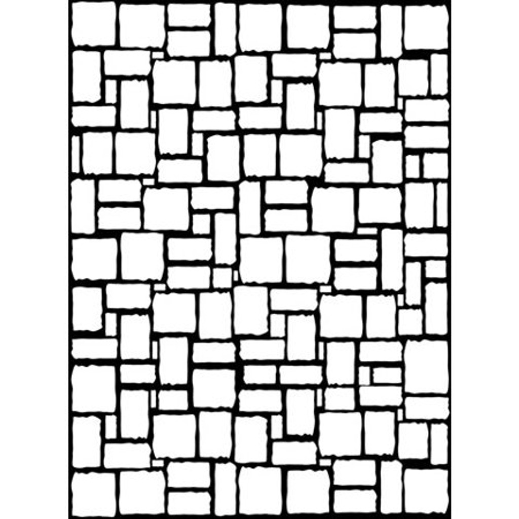 "Brick Wall - Background Embossing Folder 4.25""X5.75"""