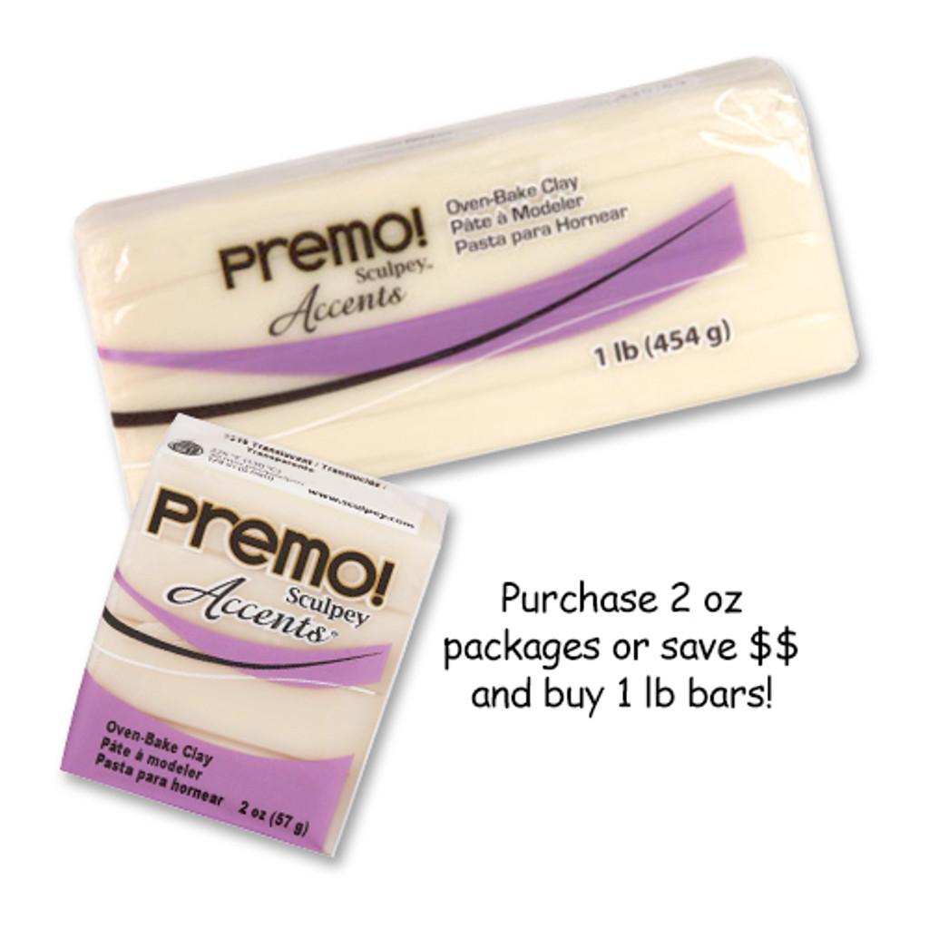 Premo! Sculpey® Accents - White Translucent