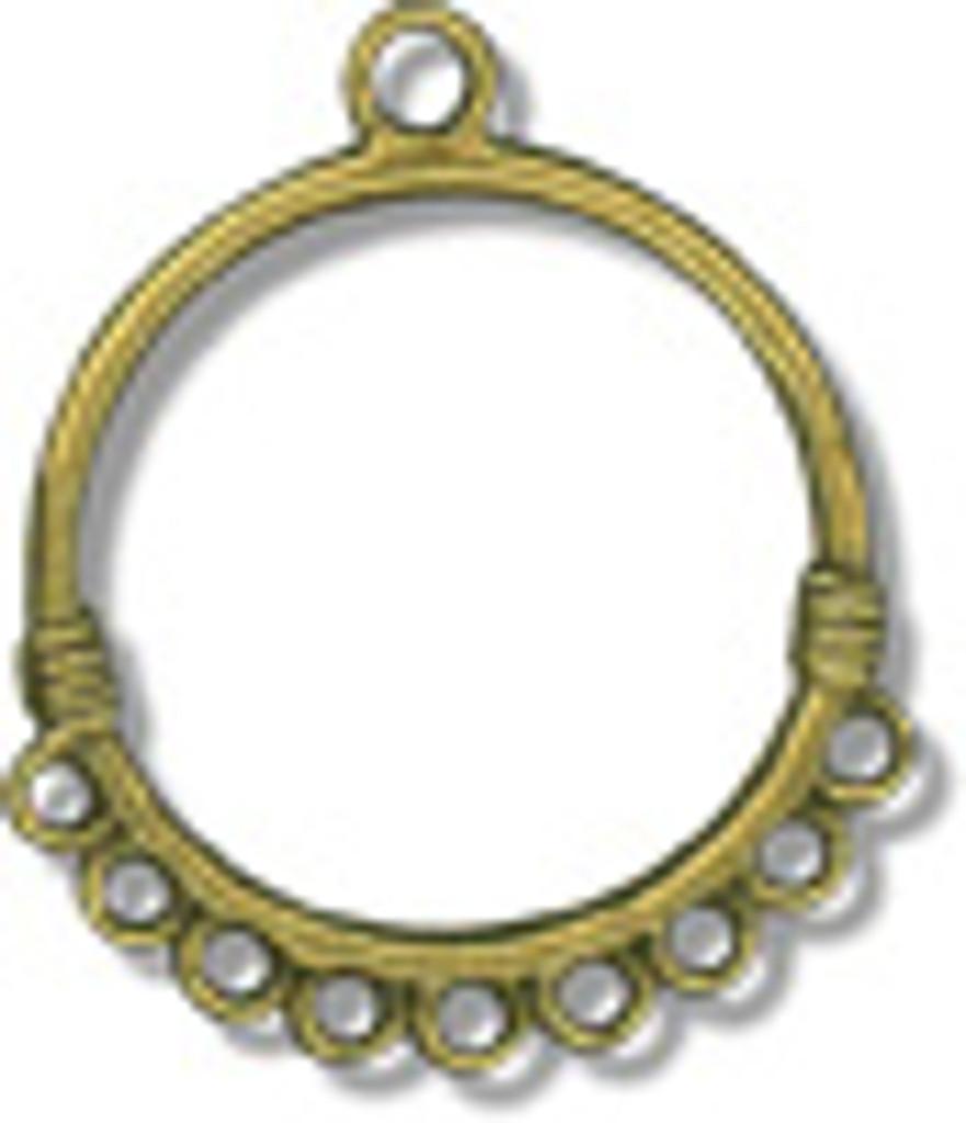 Two Brass Circle Pendants - LP