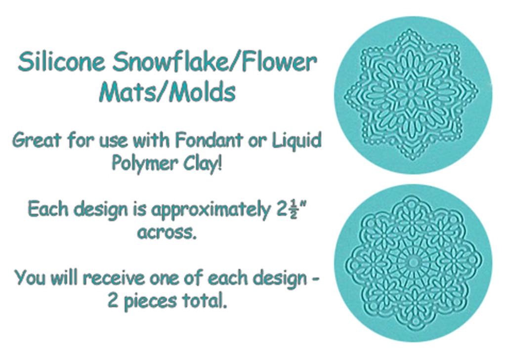 Snowflake Silicone Mats 2 Designs
