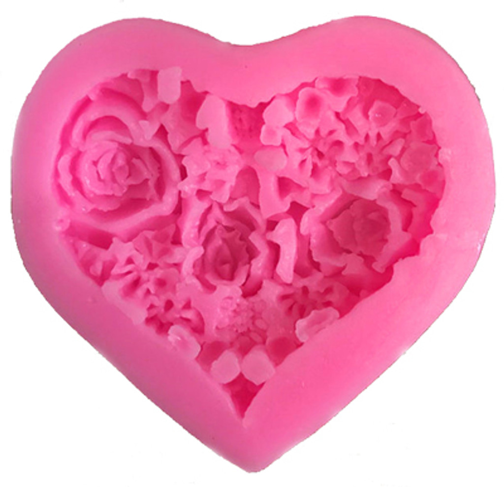 Heart Shaped Flower Mold