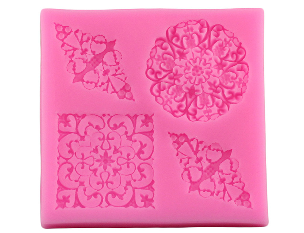Lacy Flower Square and Diamonds Mold