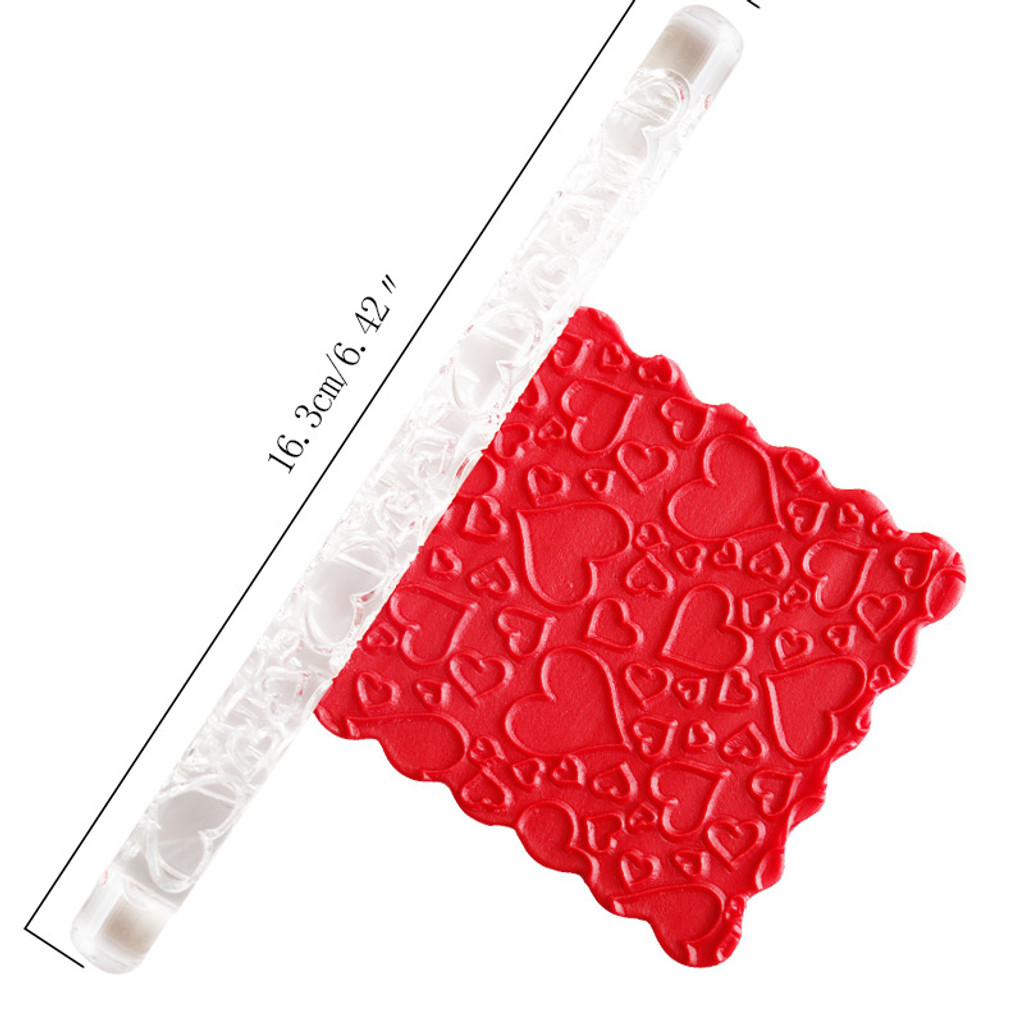Acrylic Rolling Pin Hearts