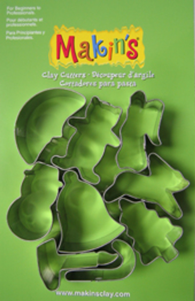Christmas Cutter Set B Makin's 9 Piece