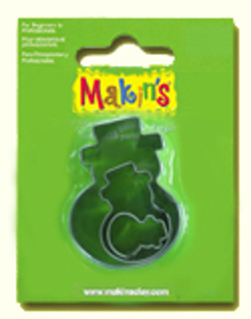 Makin's Clay 3 Piece Cutter Set Snowman