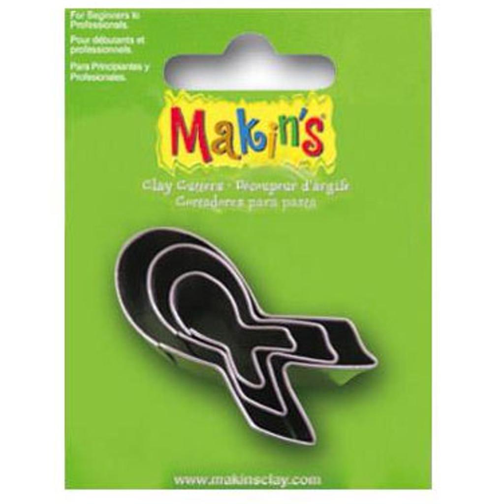 Makin's Clay 3 Piece Cutter Set Breast Cancer Awareness