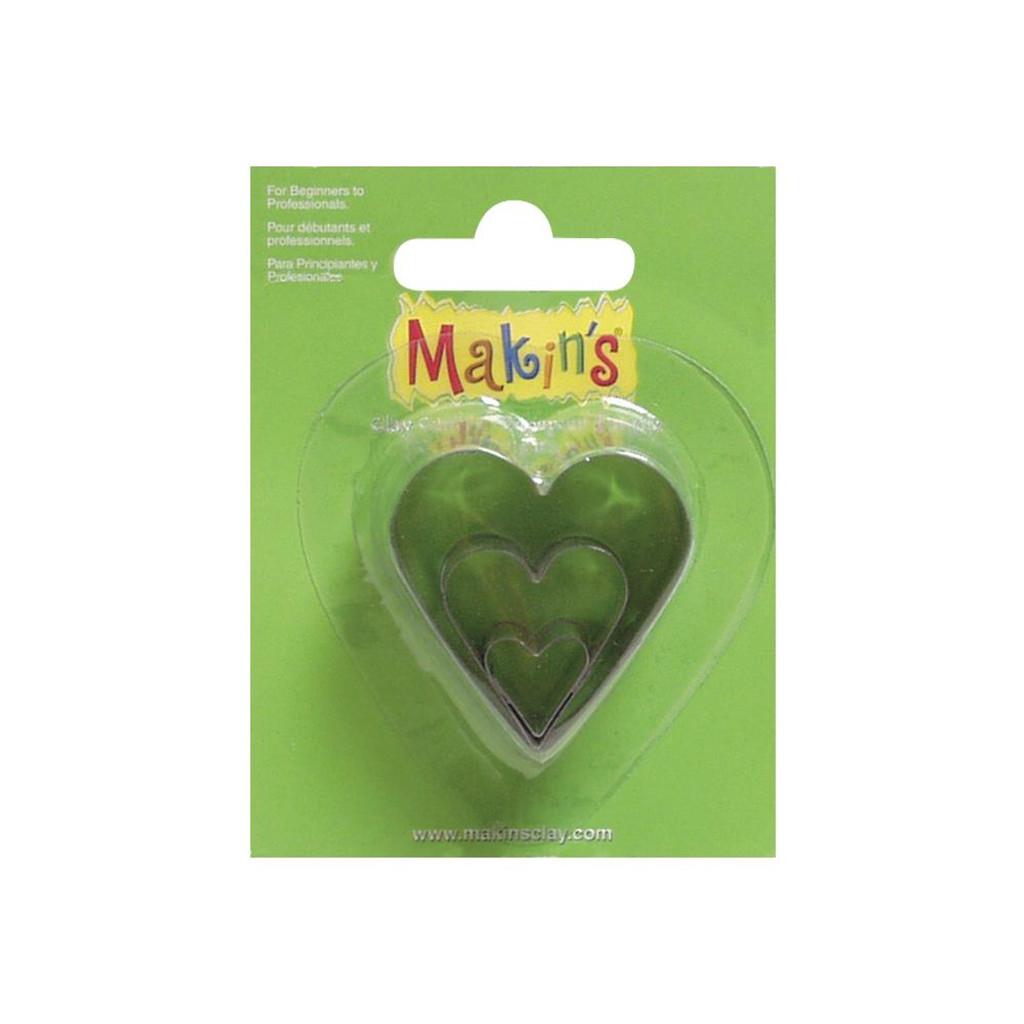 Makin's Clay 3 Piece Cutter Set Heart