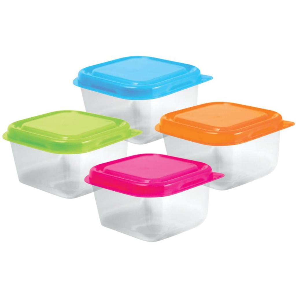 "Bead Storage Containers W/Lids 2.5""X1.5"" 4/Pkg"