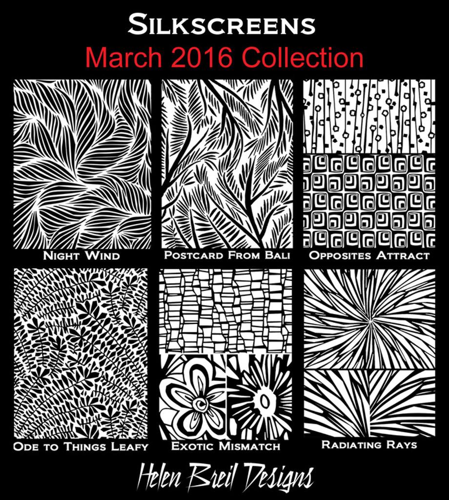 Helen Breil Silk Screens - Spring Dance