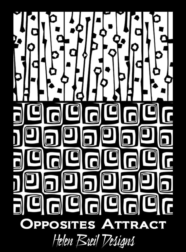 Helen Breil Silk Screens - Opposites Attract