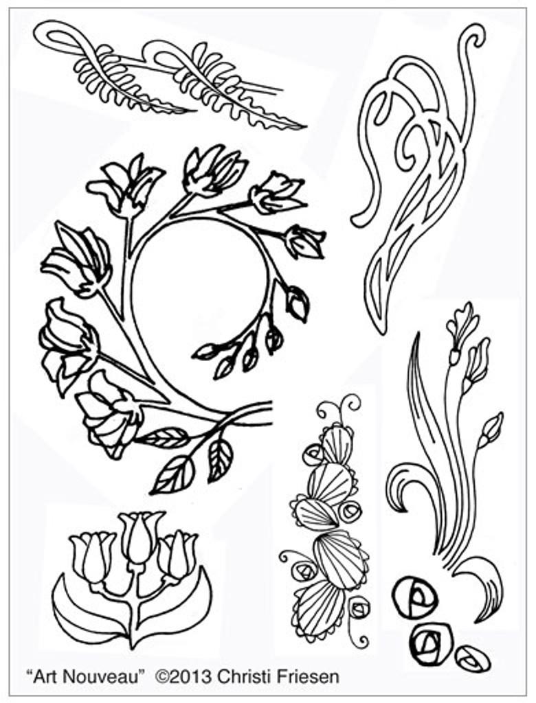 Christi Friesen Texture Stamp Art Nouveau