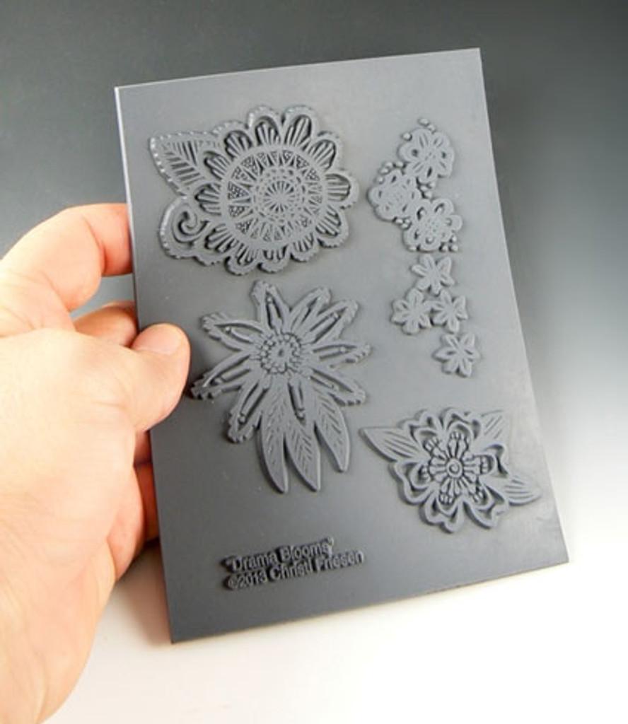Christi Friesen Texture Stamp Drama Blooms