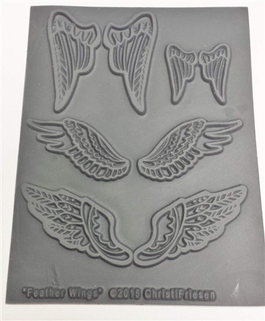 Christi Friesen Texture Stamp Feather Wings