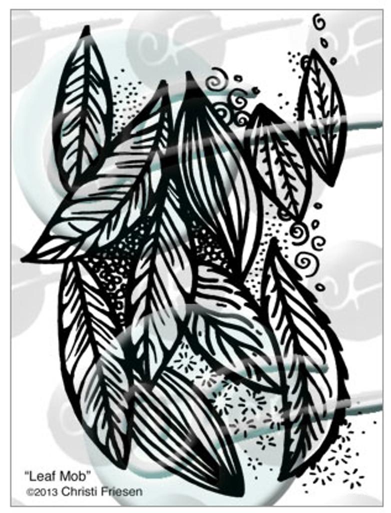 Christi Friesen Texture Stamp Leaf Mob