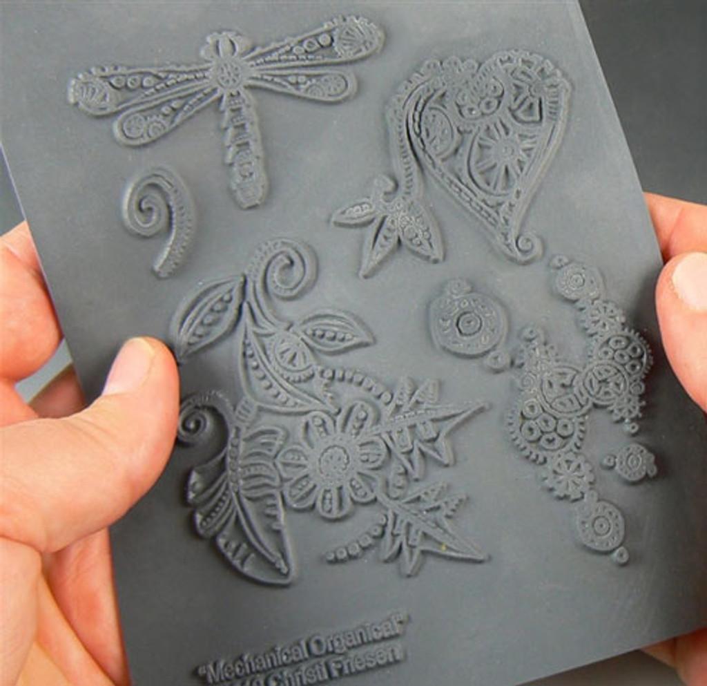 Christi Friesen Texture Stamp Mechanical Organical