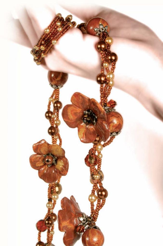 Pardo Jewellery Clay - Orange Calcite with Silver Glitter