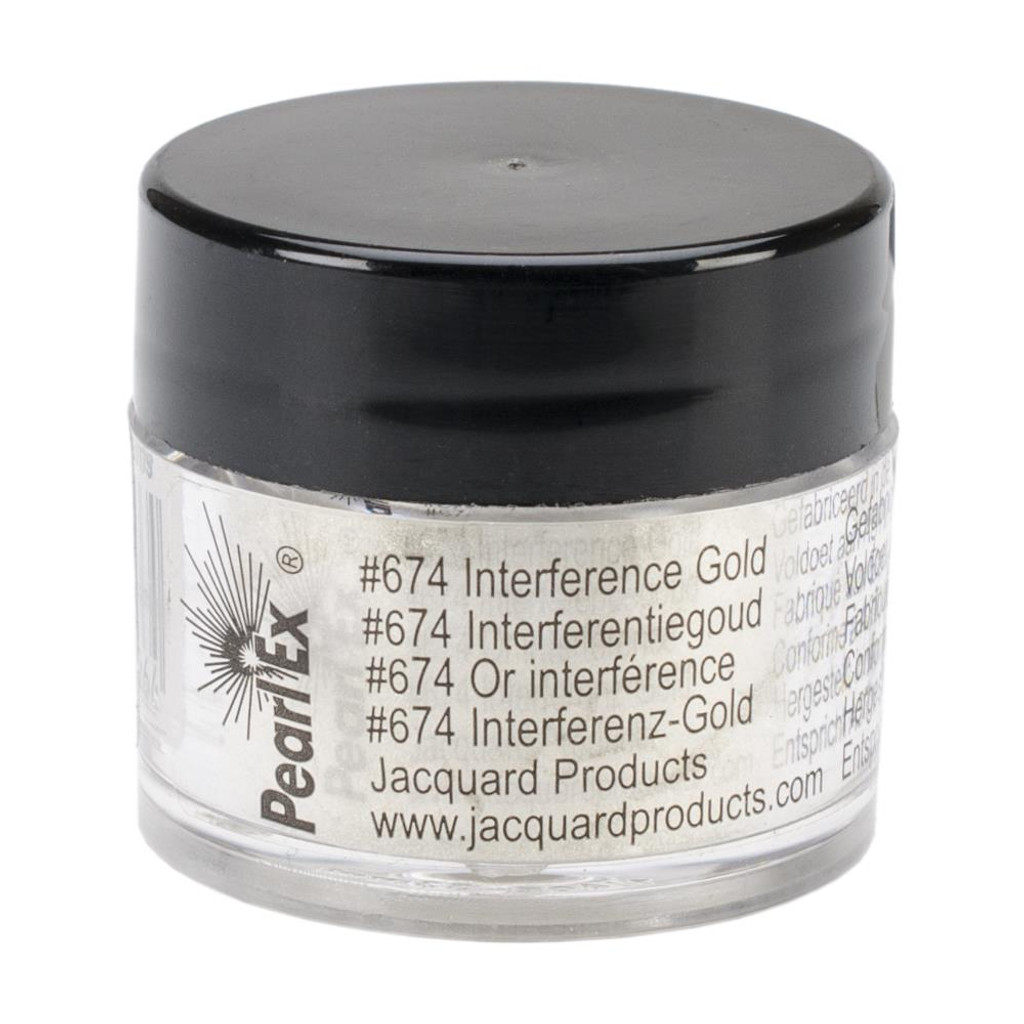 Jacquard Pearl Ex Powdered Pigment 3g - Interference Gold