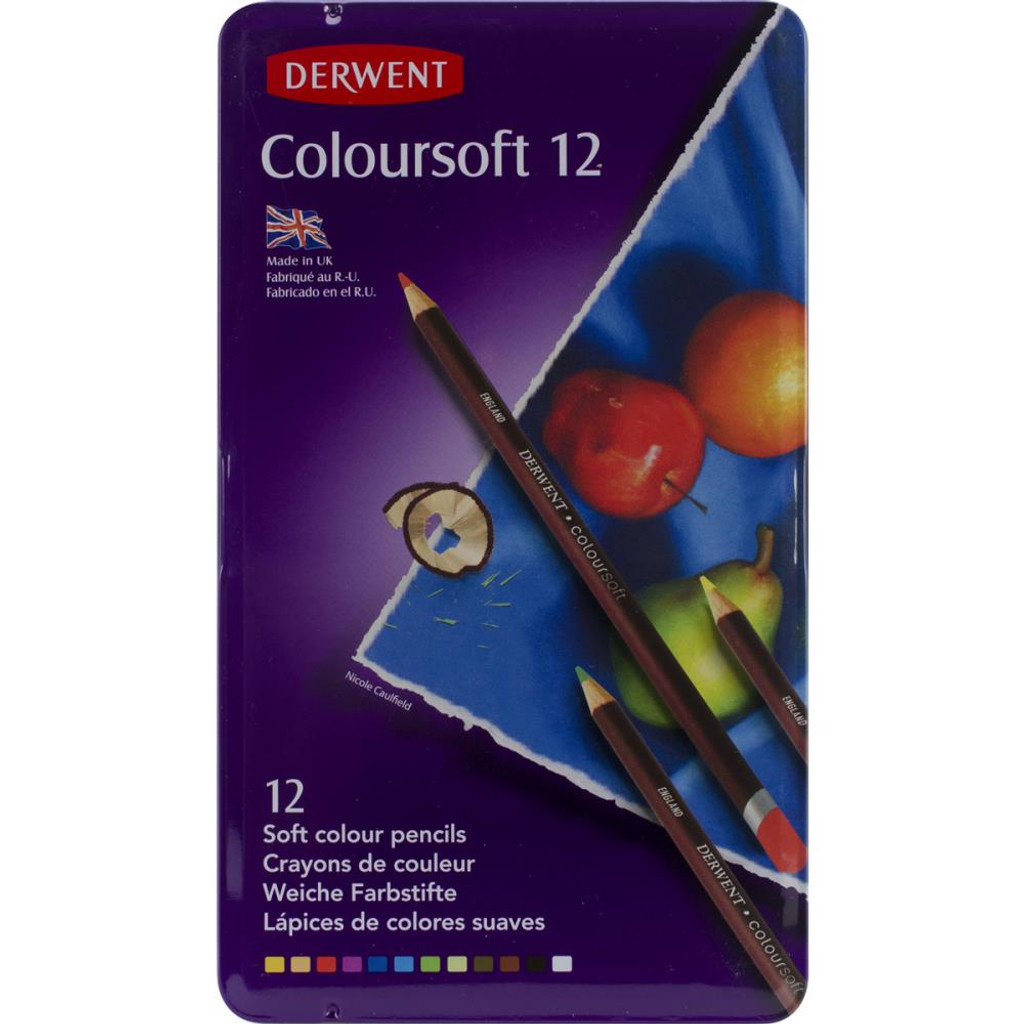Derwent Coloursoft Pencils 12/Pkg