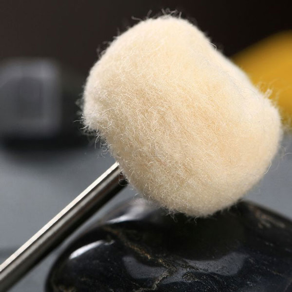 Buffing Shank with Wool Polishing Head 1""