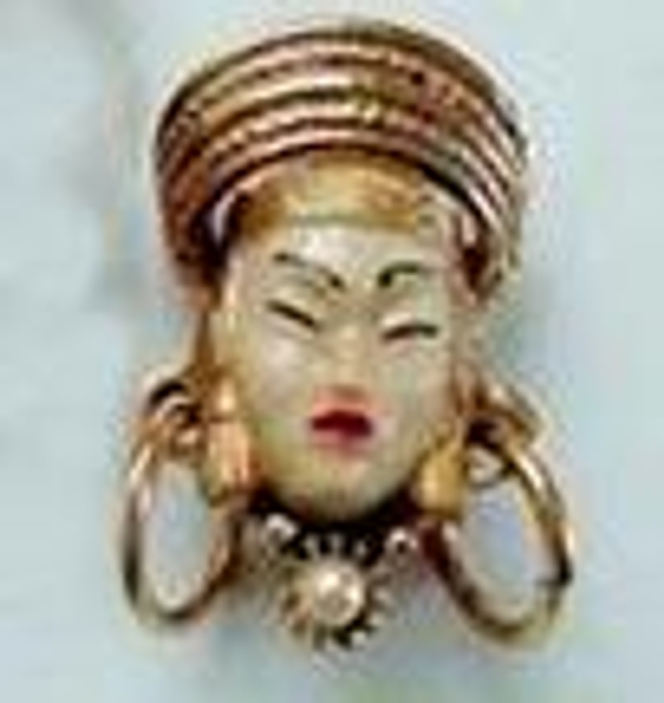 Exotic Face Pin Polymer Clay Free Tutorial