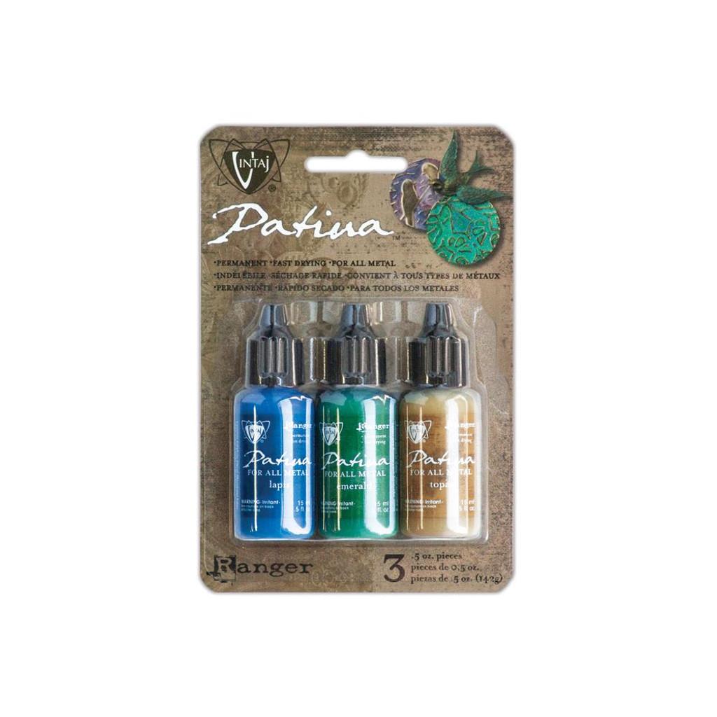 Vintaj Patinas Inks for Metals - Faded Pickup-Lapid/Emerald/Topaz