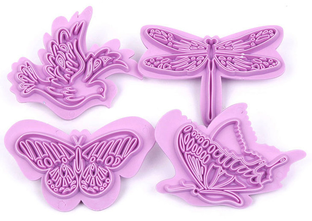 Butterfly, Dove and Dragonfly Stamps 4 pc. Set