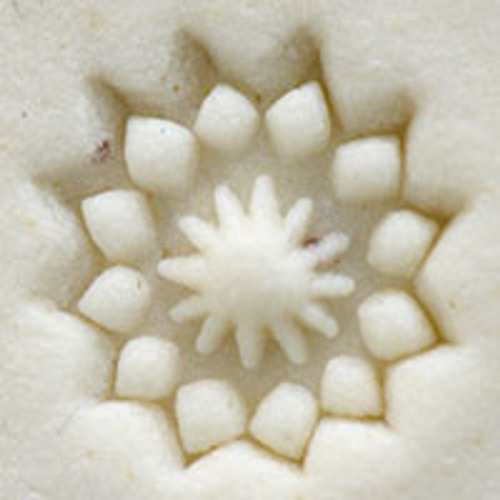 Geometric Flower Outline Stamp