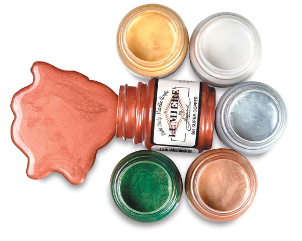Jacquard Lumiere Metallic Acrylic Paint 2.25oz - Crimson
