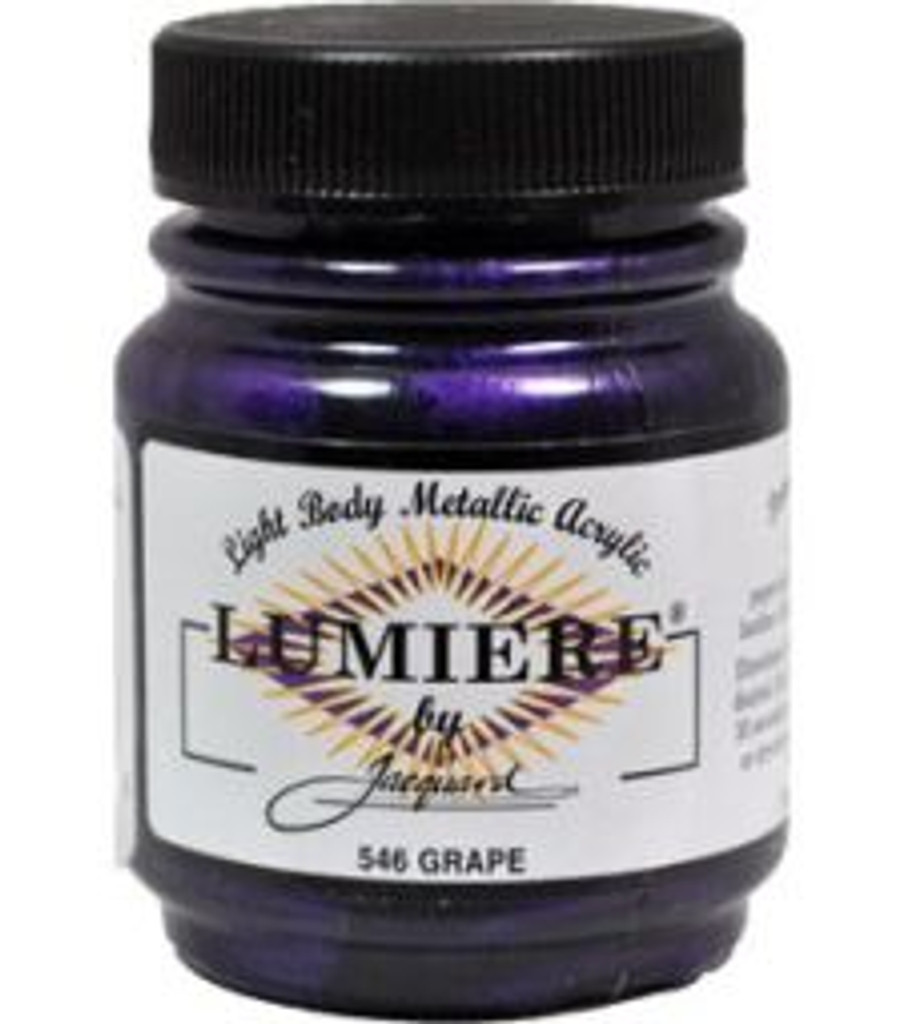Jacquard Lumiere Metallic Acrylic Paint 2.25oz - Grape