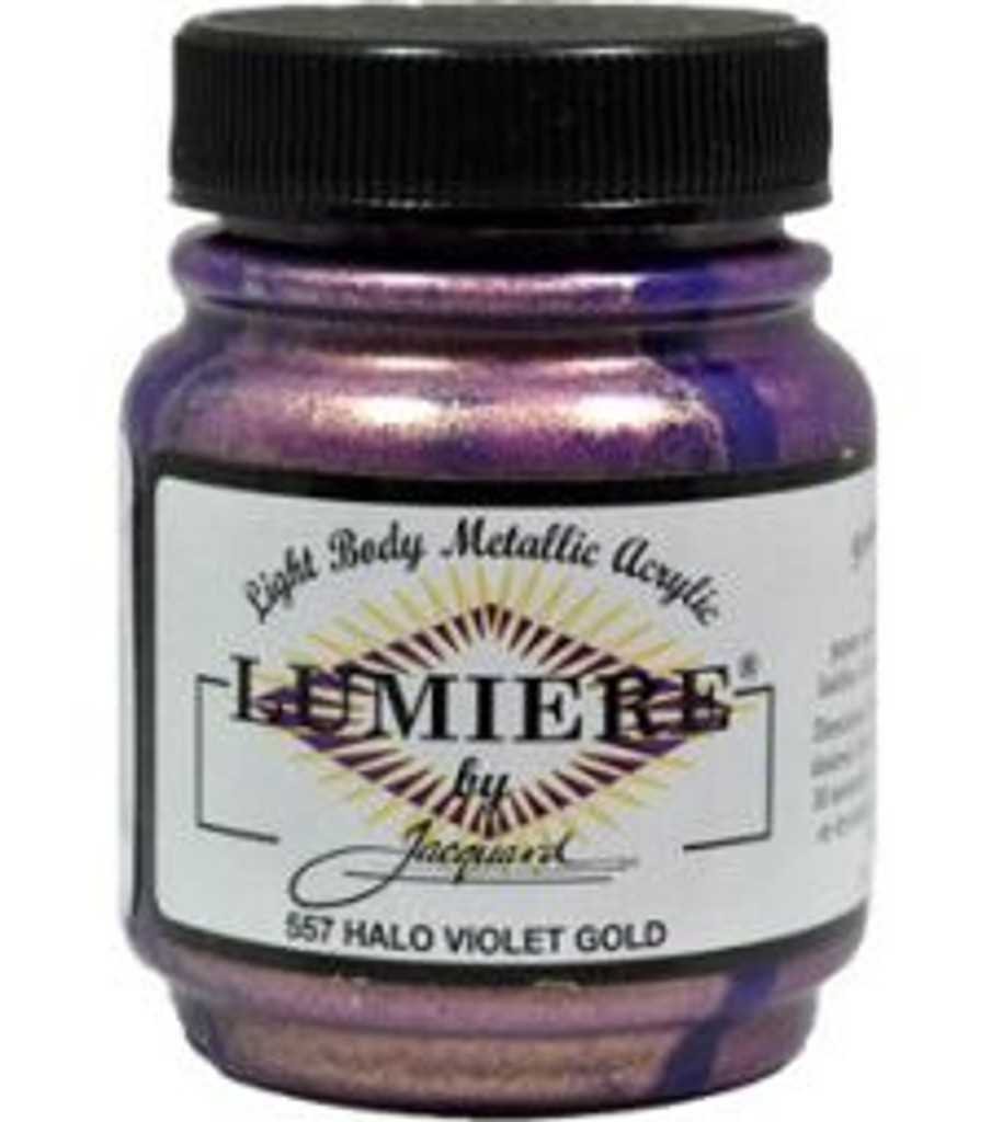 Jacquard Lumiere Metallic Acrylic Paint 2.25oz - Halo Violet Gold