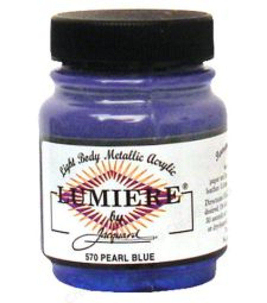 Jacquard Lumiere Metallic Acrylic Paint 2.25oz - Pearlescent Blue