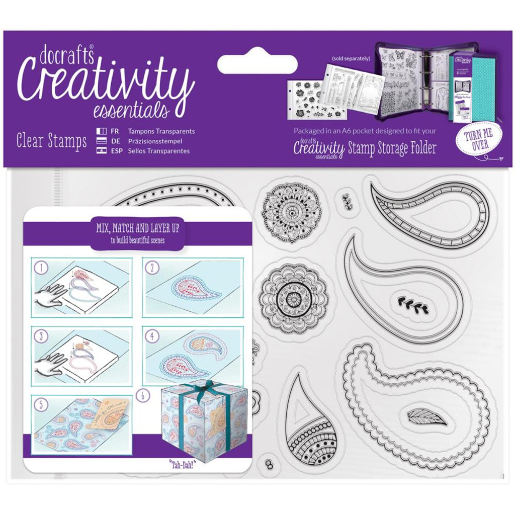 Paisley - Creativity Essentials A6 Clear Stamps