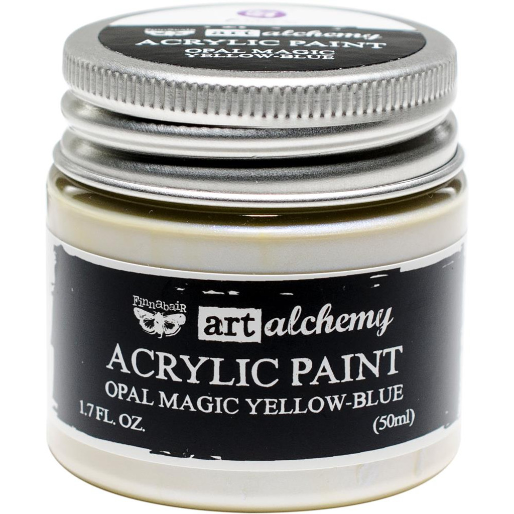 Finnabair Art Alchemy Acrylic Paint - Opal Magic Yellow/Blue