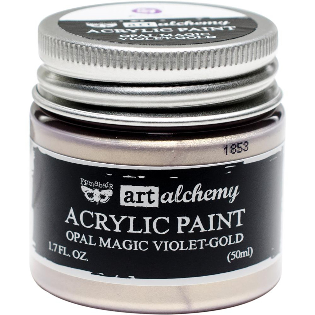 Finnabair Art Alchemy Acrylic Paint - Opal Magic Violet/Gold