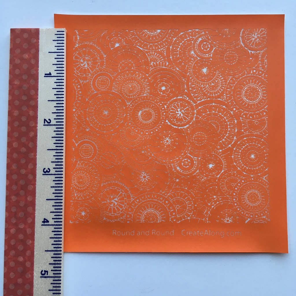 Round and Round Silkscreen Stencil