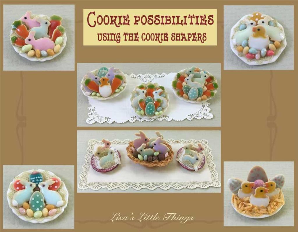 Dollhouse Miniature Cookies by Lisa Engler