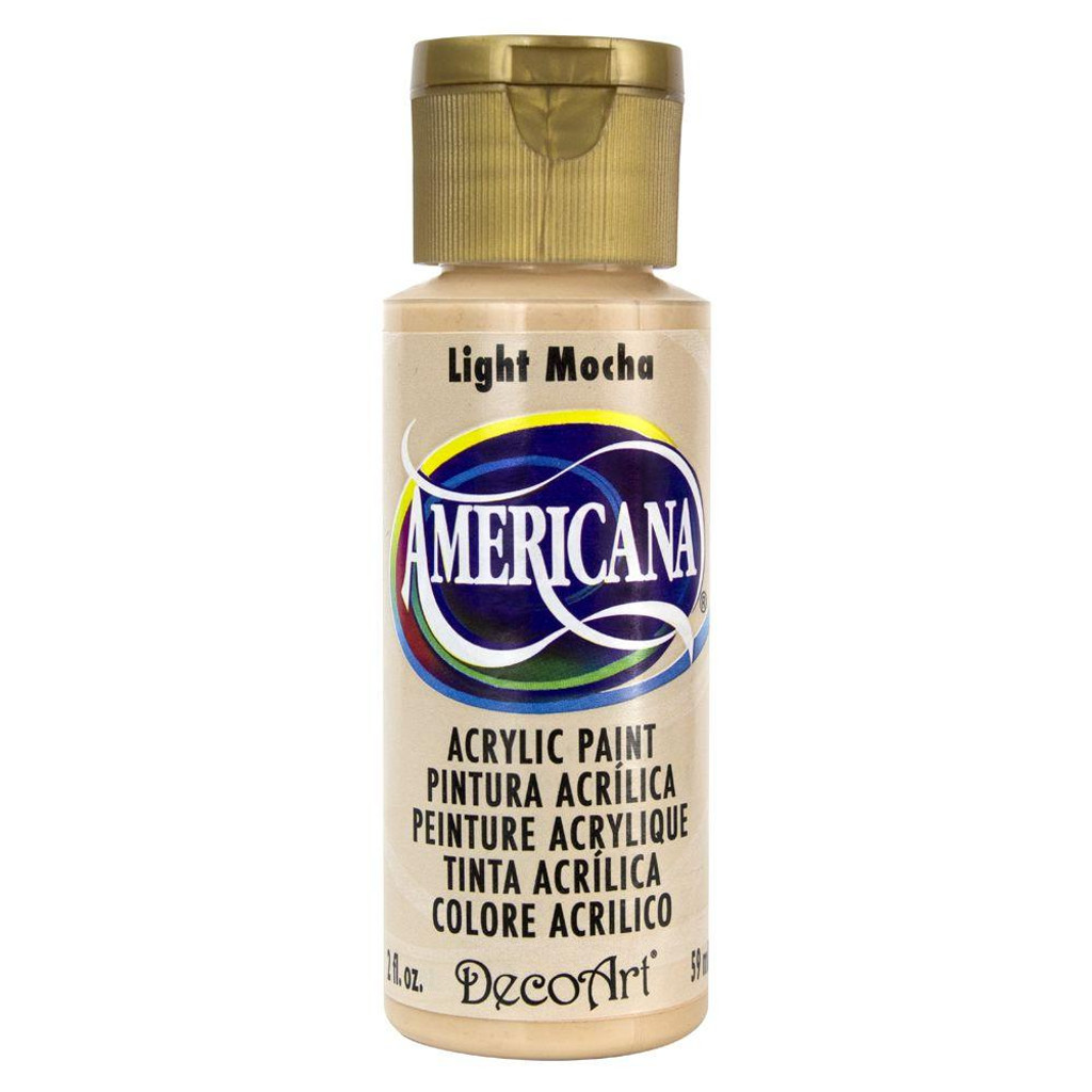 Americana Acrylic Paint 2oz - Light Mocha